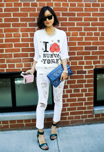 We don't just love the tee — this whole look got our vote.