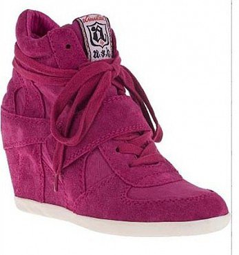 ASH RED COOL WEDGE SNEAKERS IN SUEDE
