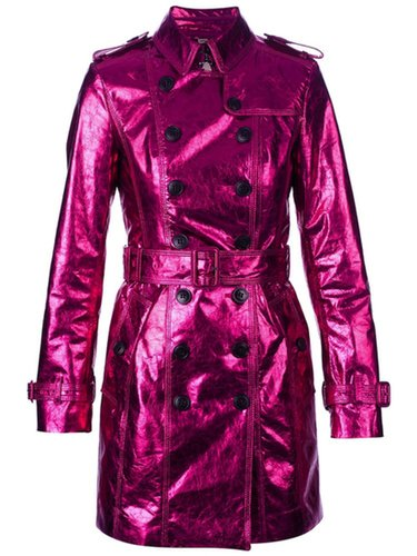 Pink Metallic Trench Coat