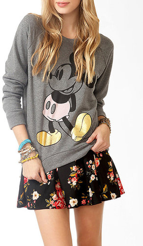 FOREVER 21 Contrast Mickey Mouse Sweatshirt