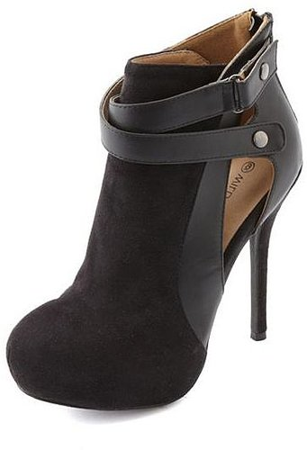 Cutout Zip-Back Ankle Bootie