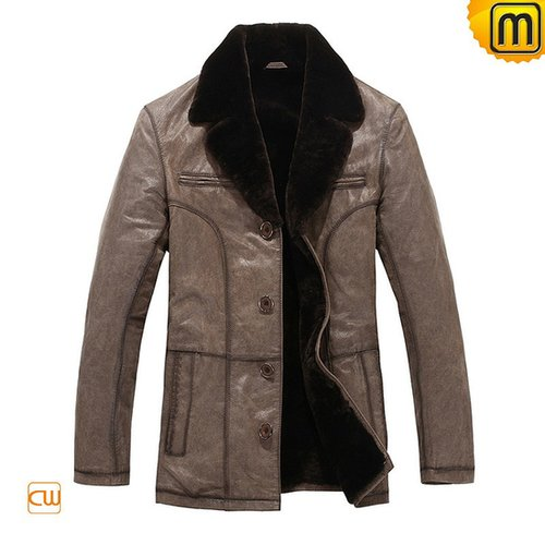 Men Fur Lined Leather Coats CW819405