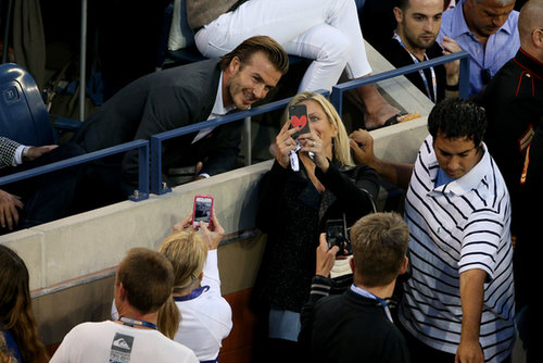 David Beckham took the time to snap a selfie with a fan.