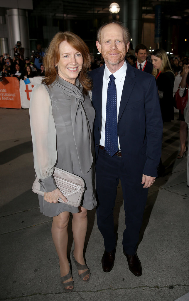 Ron Howard and his wife, Cheryl Howard, attended the Rush premiere.