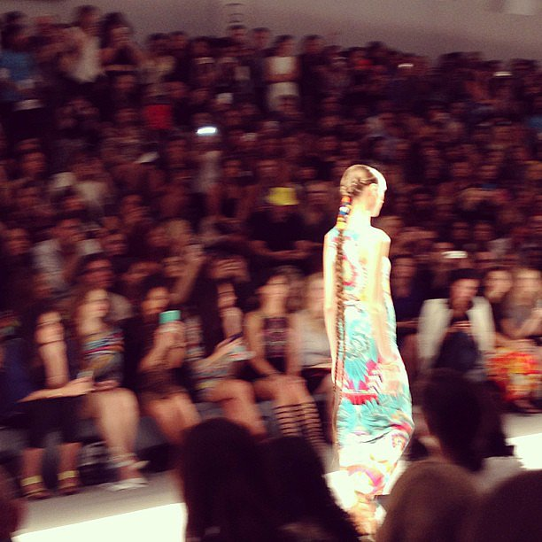 The extralong braids at Mara Hoffman were showstoppers on the runway.