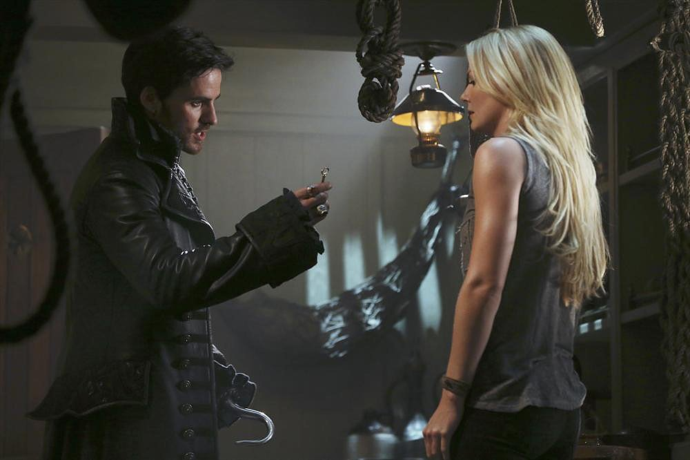 Colin O'Donoghue and Jennifer Morrison on the season premiere of Once Upon a Time.