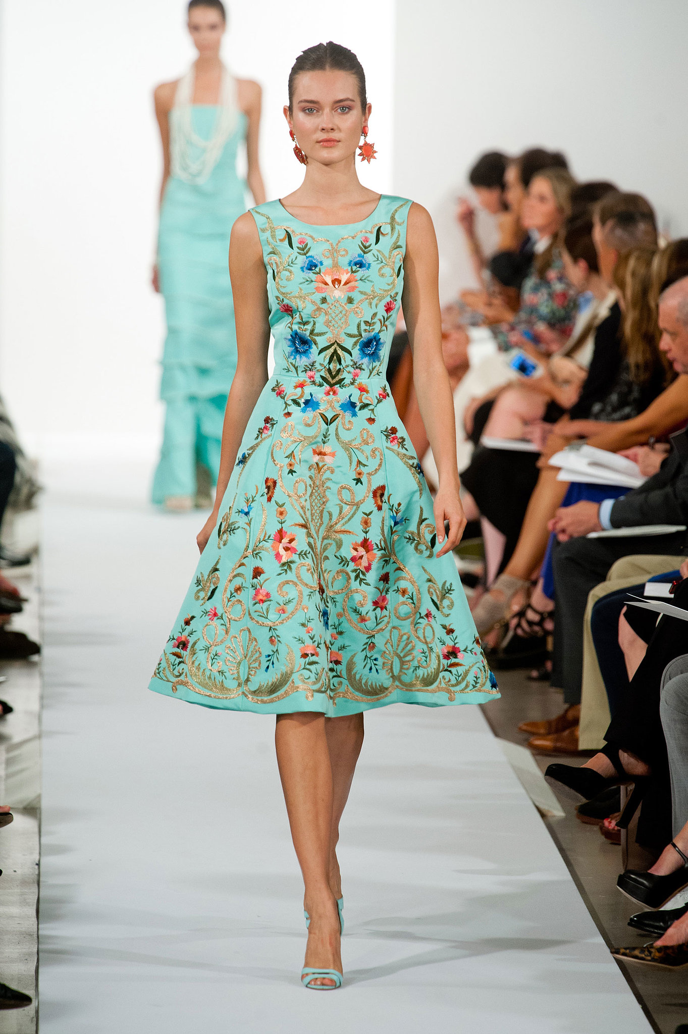oscar de la renta spring 2014 the best new york fashion week runway looks popsugar fashion. Black Bedroom Furniture Sets. Home Design Ideas