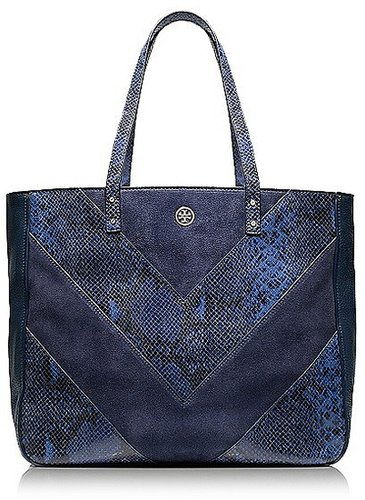 Tory Burch Chevron Color-Block Tote