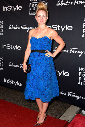 Jennifer Morrison struck a pose at the HFPA/InStyle party.