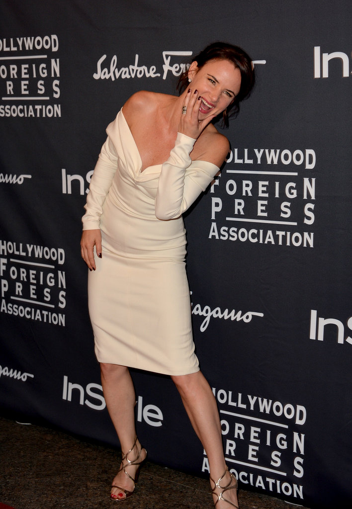 Juliette Lewis had a laugh while walking the red carpet for the HFPA/InStyle party.