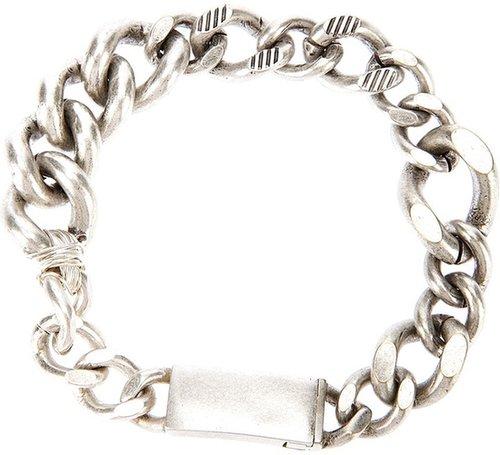 Maison Martin Margiela chunky identity bracelet