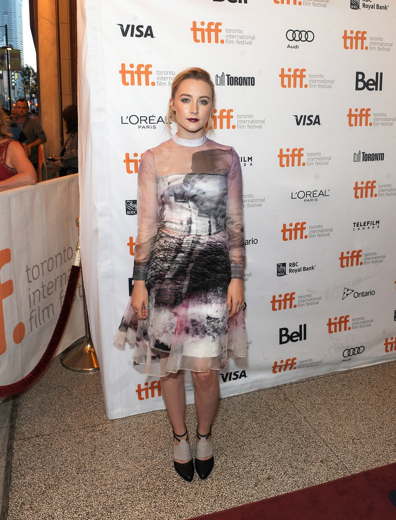 Saoirse Ronan dressed up for the premiere of How I Live Now.
