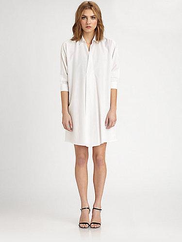 Josie Natori Cotton/Silk Shirtdress