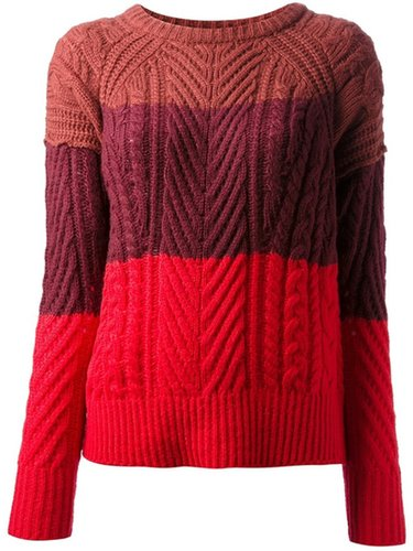 Marc By Marc Jacobs striped knitted cardigan