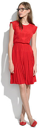 Silk Drop-Pleat Dress