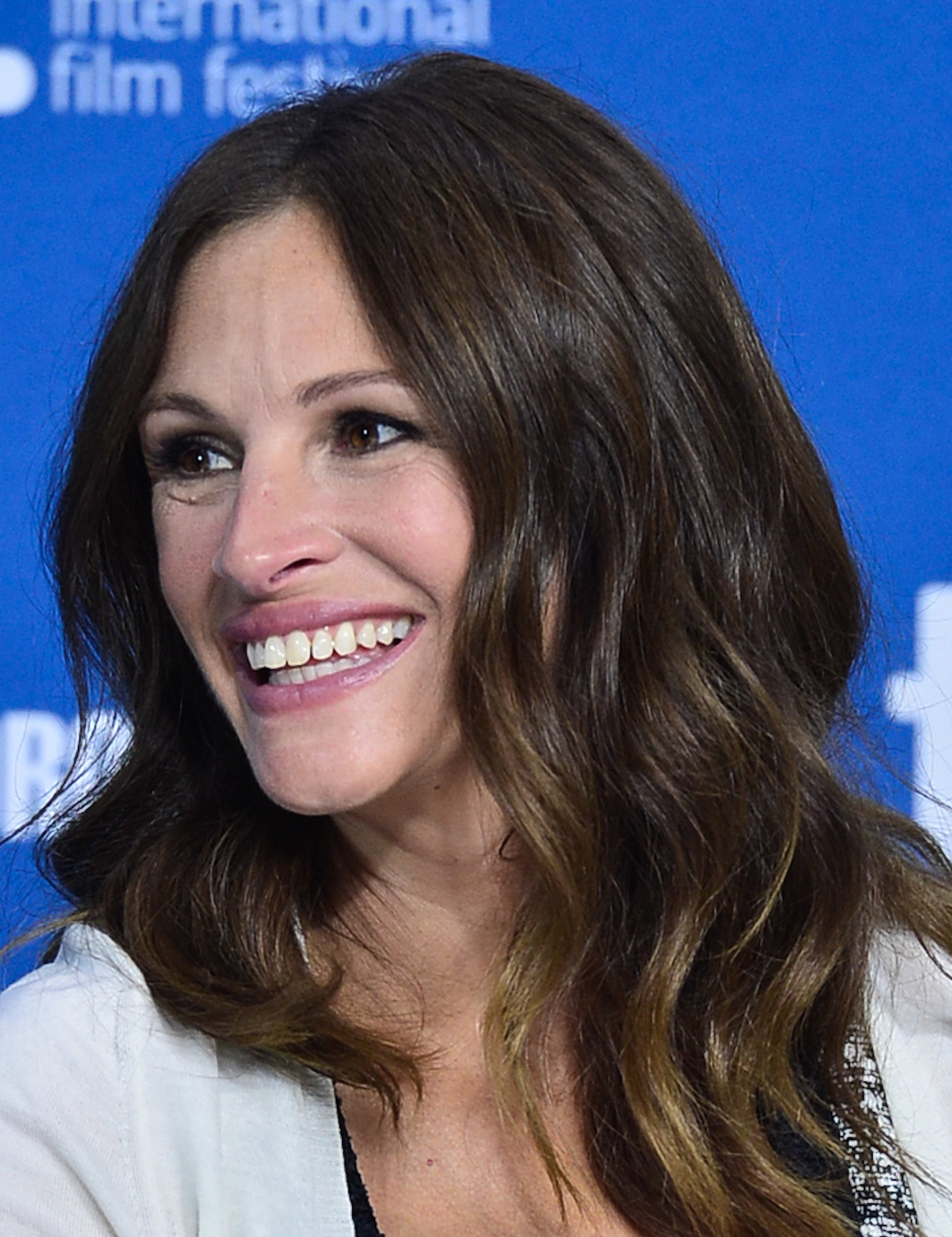 At the August: Osage County press conference, Julia