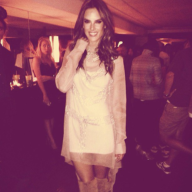 Alessandra Ambrosio shared a photo from a NYFW party. Source: Instagram user alessandraambrosio