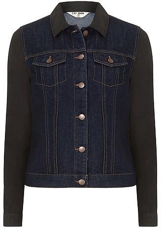 Coated sleeve denim jacket