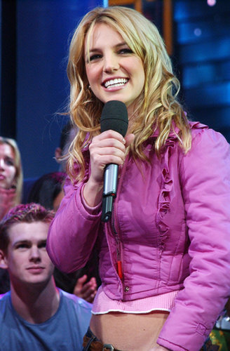 Britney Spears showed off her abs during a 2001 appearance.