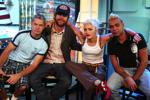 No Doubt stopped by TRL to perform in 2002.