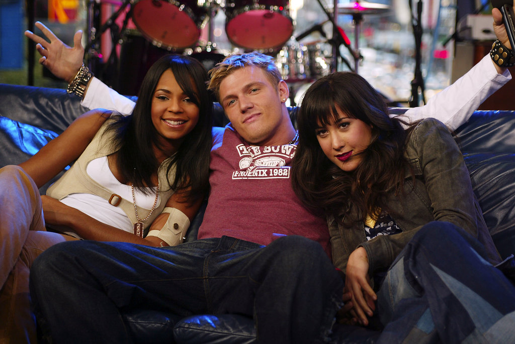 Nick Carter had his arms around Ashanti and Vanessa Carlton during the 1,000th episode celebration in 2002.