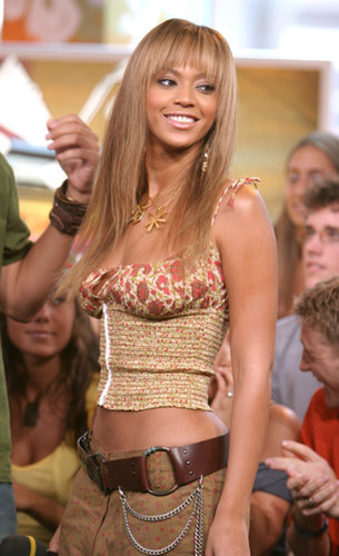 Beyoncé Knowles visited TRL for an appearance in 2003.