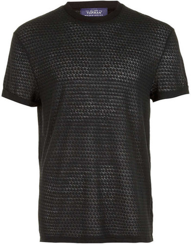 Black Burnout Dogtooth T-Shirt
