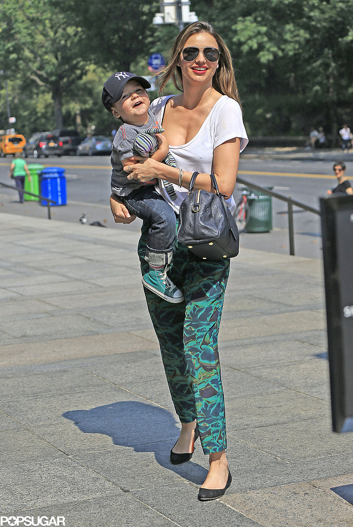 Miranda Kerr and her son, Flynn, did a bit of mother-son bonding during a trip to the Museum of Natural History in NYC.