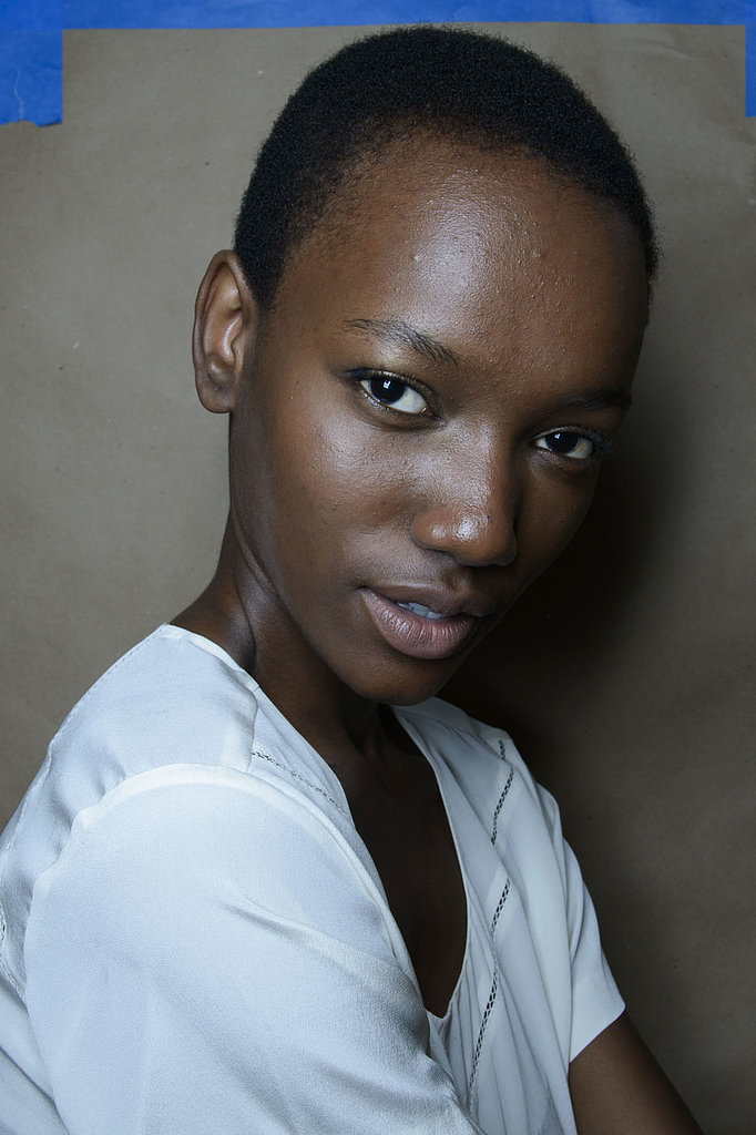 """I moisturize [between shows] with Evian Spray ($10), and I use a Clinique moisturizer. When you're running around, it's so hot and you get inside and it's so cold, your skin is not used to the changes.""  — Model Herieth Paul (pictured) at Derek Lam"