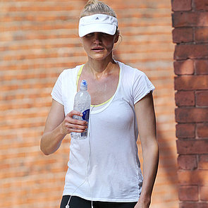 Cameron Diaz Running in Boston