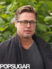 Brad-Pitt-showed-off-his-short-hair-London