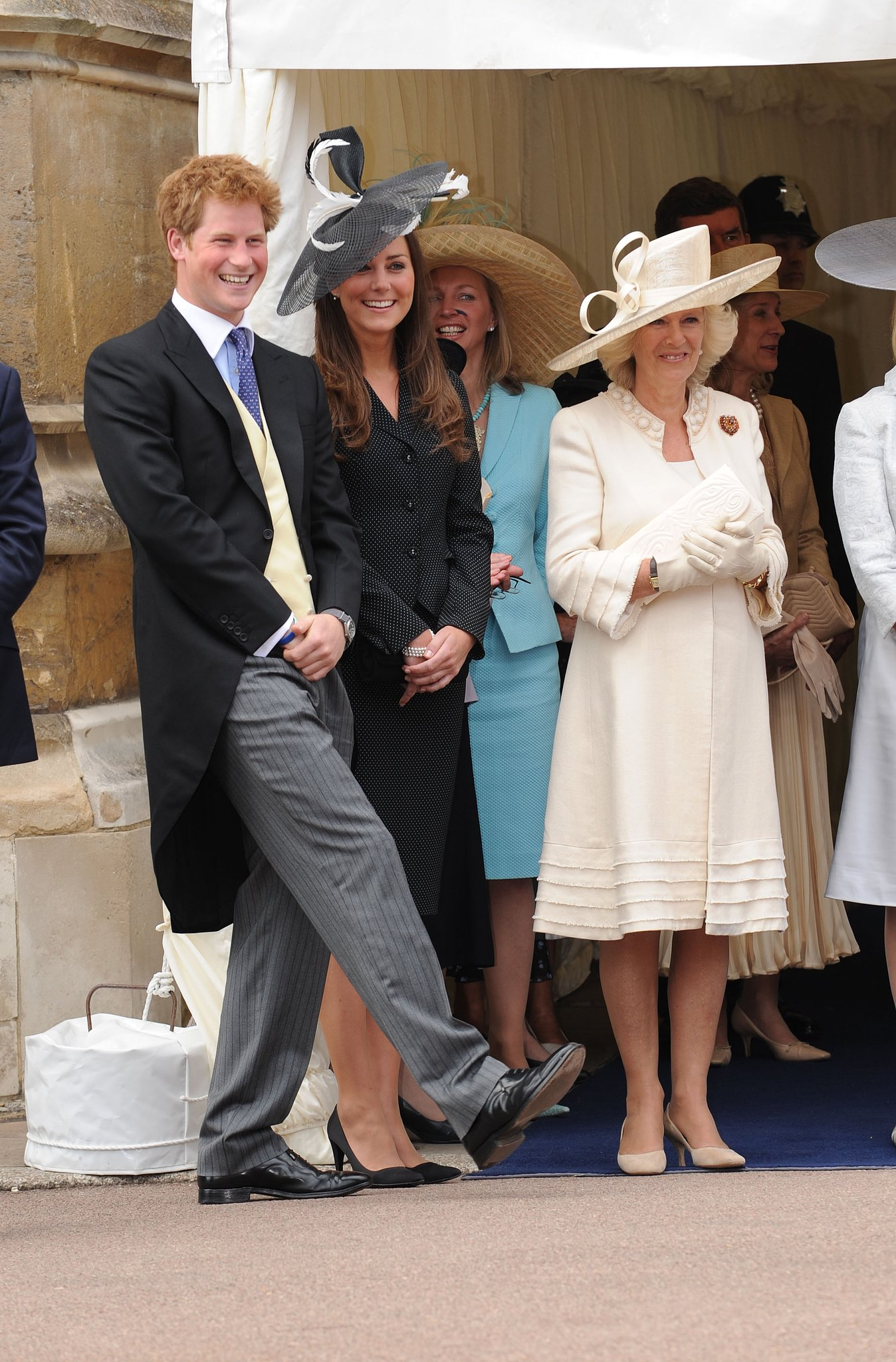 Prince Harry and Kate Middleton shared a laugh during an event in England in 2008.