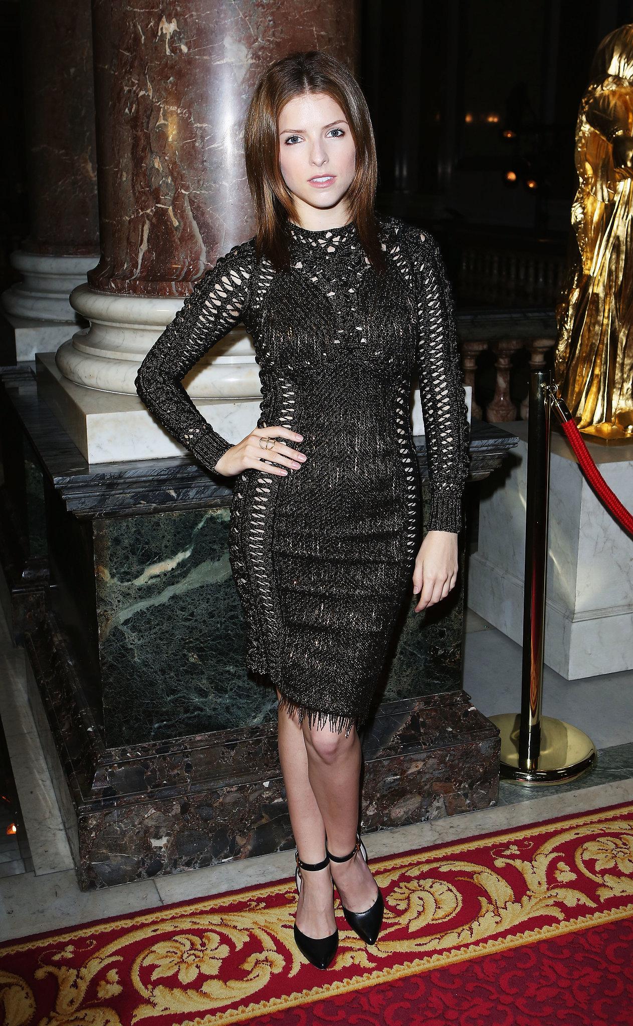 Anna Kendrick took in the Julien Macdonald show at London Fashion Week.