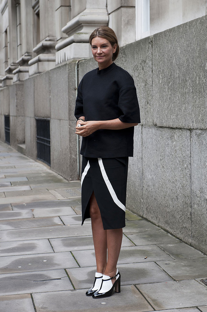 Slick and sophisticated, this street style star proves why white and black is best.