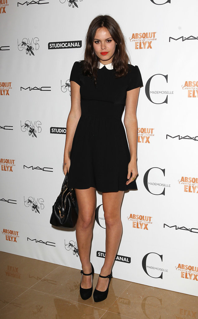 Atlanta de Cadenet Taylor kept it minimalist for the Mademoiselle C carpet.