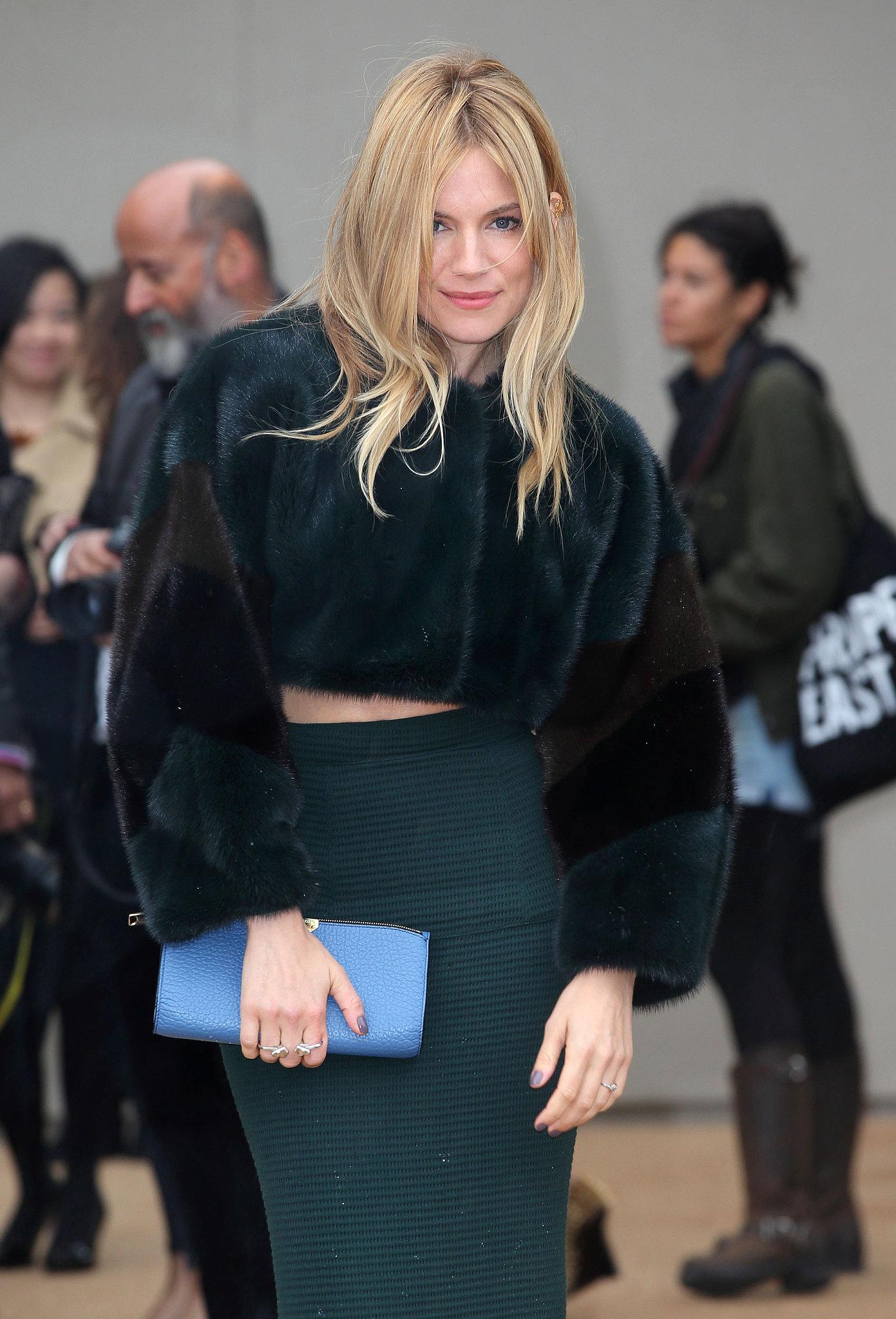 Sienna Miller at Burberry Prorsum Spring 2014.