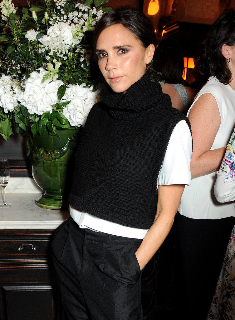 Victoria Beckham at the British Vogue dinner.