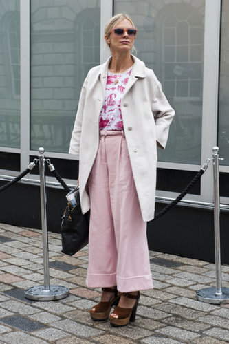 Pink is hardly your typically girlie fare when worn like this.