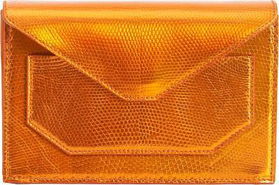 Narciso Rodriguez Lizard Crossbody Envelope Clutch