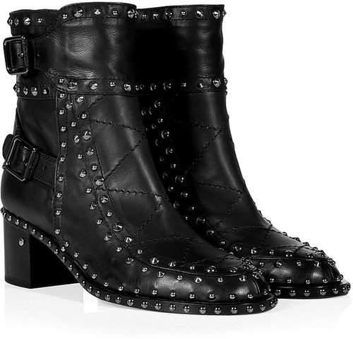 Laurence Dacade Leather Studded Badely Booties in Black