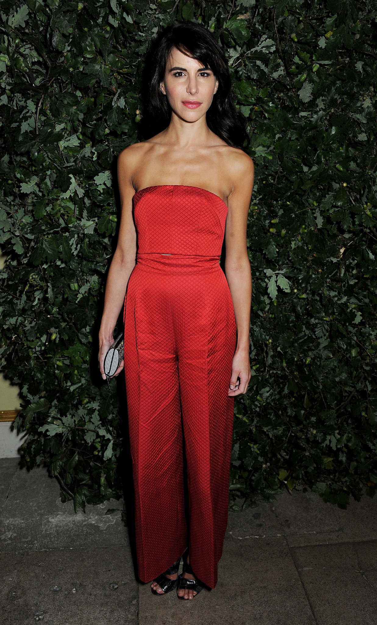 A red hot  Caroline Sieber celebrated the Global Fund in a bright jumpsuit.