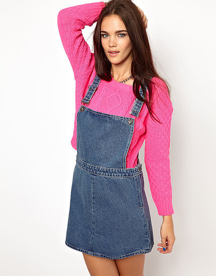 Embrace throwback fashion in this Glamorous denim dungaree dress ($48).