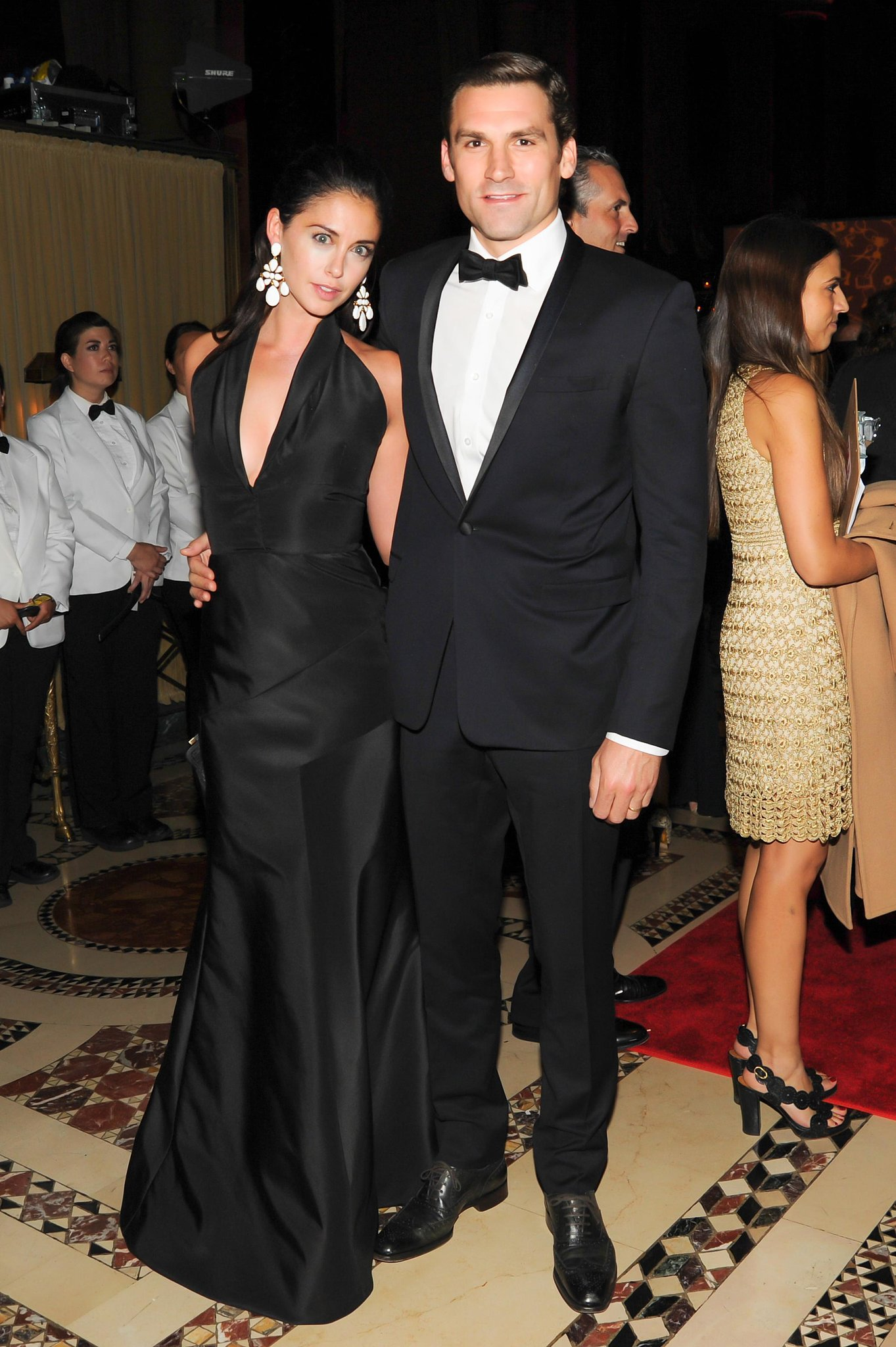 Erika and Jonathan Bearman coordinated in black and white at Cipriani for the the New Yorkers for Children Fall Gala.