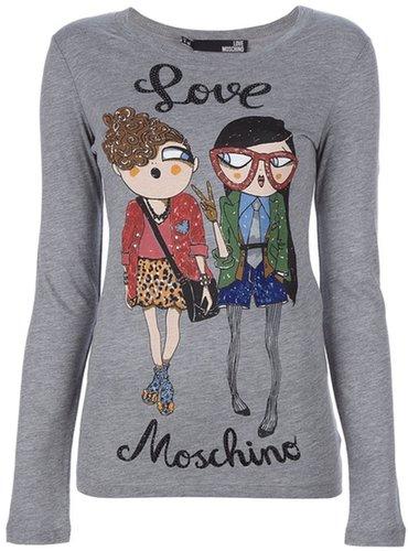 Love Moschino printed sweater