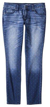 Merona® Women's Skinny Denim Jean - Polka Dot Print