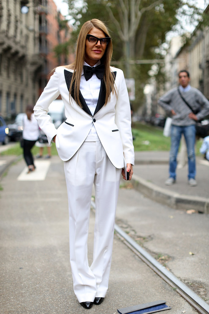 We have a total girl crush on Anna Dello Russo's menswear moment.