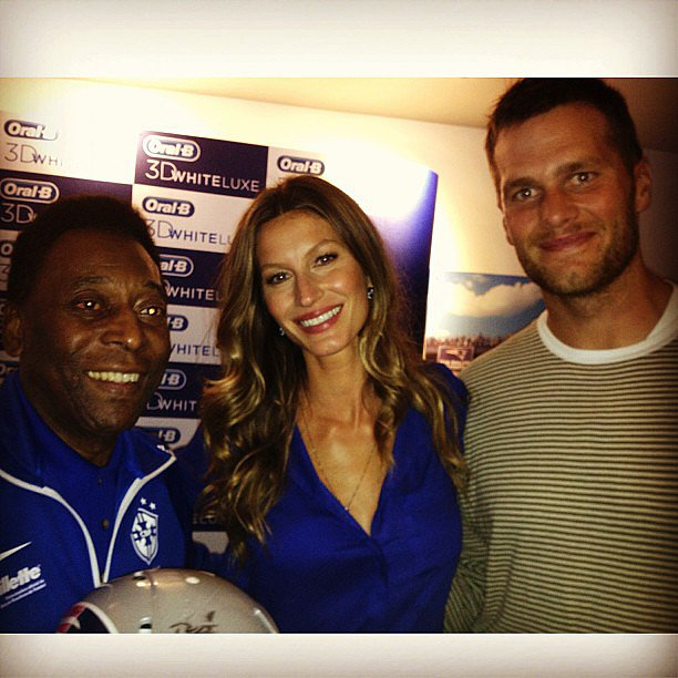 Gisele Bündchen and Tom Brady took in a soccer game between Portugal and Gisele's home country of Brazil. Source: Instagram user giseleofficial