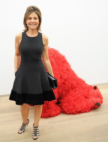 Lisa Perry was a standout in black against the colorful collection at Galerie Perrotin.