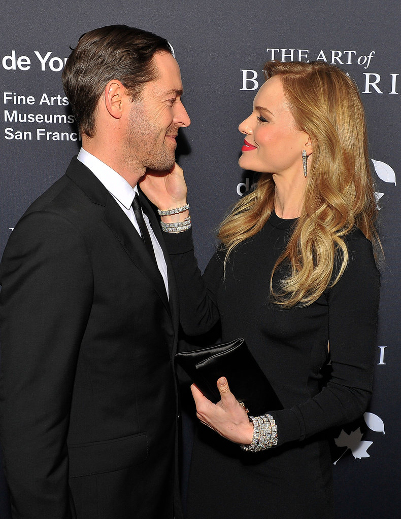 Kate Bosworth and husband Michael Polish showed sweet PDA on the red carpet.