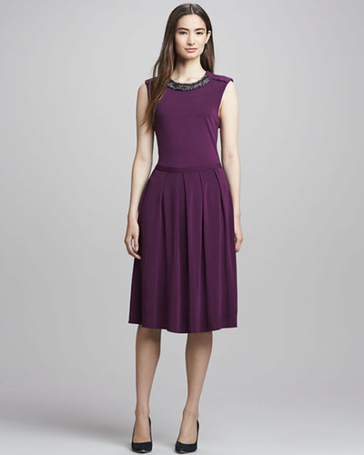 Tory Burch Eva Jewel-Neck Dress